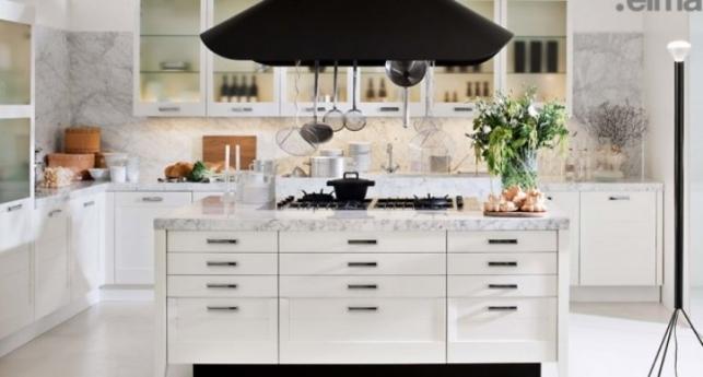 biała z marmurem  Dom i Biuro -> Kuchnie Z Marmurem