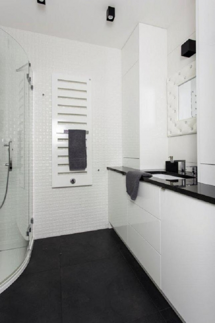 Czarno Biała łazienka Dom I Biuro